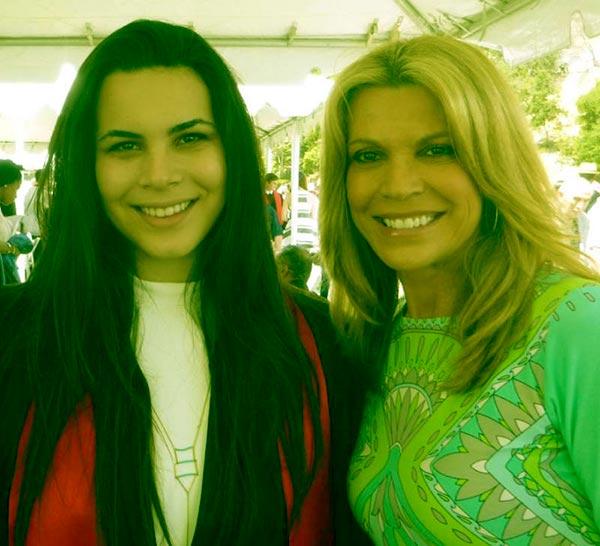 Image of Caption: Gig Santo Pietro and Mother, Vanna White