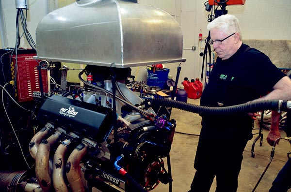 Image of Caption: Pat Musi, owner of Musi Racing Engines