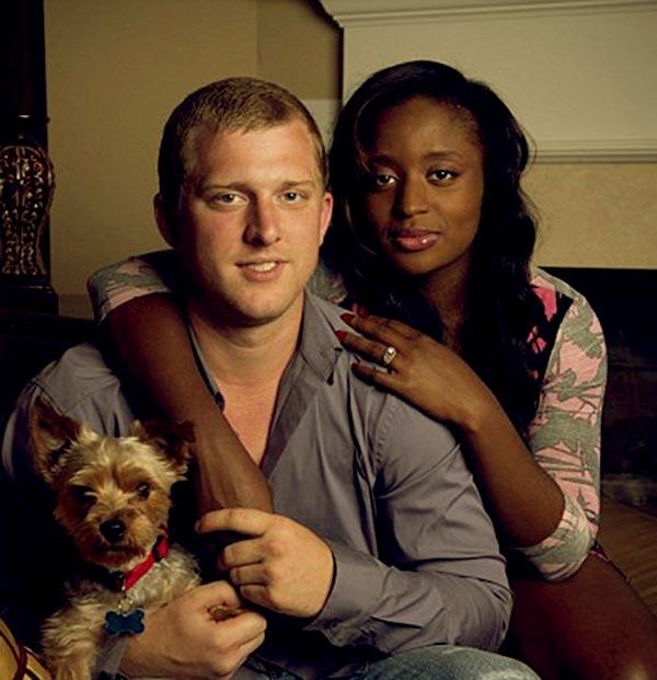 Image of Caption: Angela with her ex-boyfriend, Kyle Chrisley
