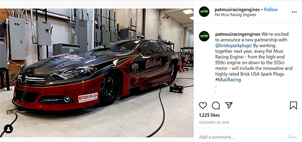 Image of Caption: Pat Musi posted an image of a racing car