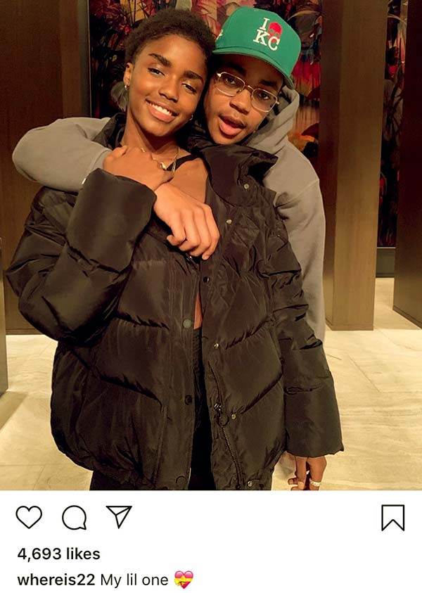 Image of Caption: Michael posted a picture of himself with his former girlfriend, Eva Apio which had deleted from his IG account