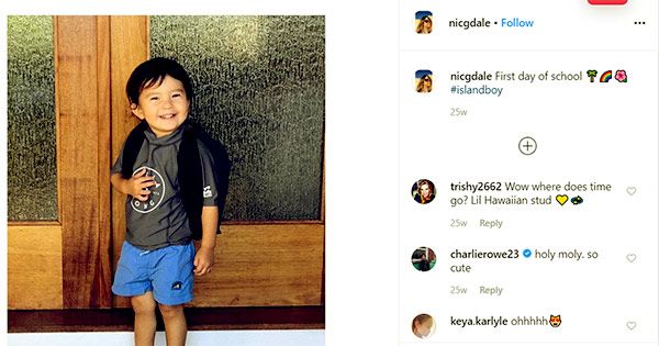 Image of Caption: Nicole son Roman first day of his school