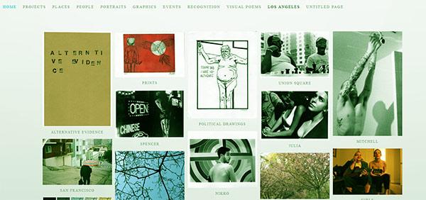 Image of Caption: Gigi Santo Pietro's art website