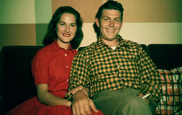 Image of Caption: Andy Griffith with his first wife Barbara