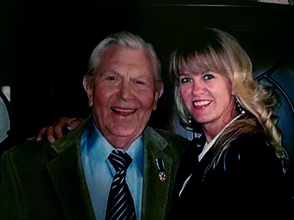 Image of Caption: Dixie Griffith with her father Andy Griffith