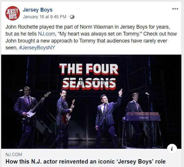 Jersey Boys performances of Frankie and The Four Season's hit recordings.png