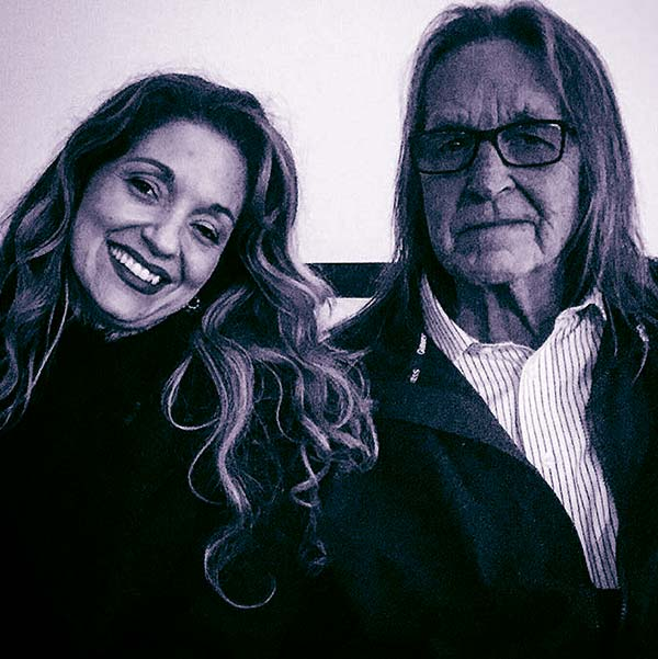 Image of Caption: Kristina Sunshine with her father George