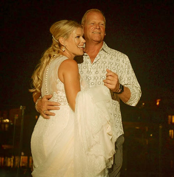 Image of Caption: Sherry Holmes with her father Mike Holmes