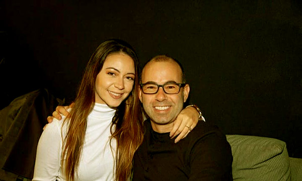Image of Caption: Melyssa and James look cute together