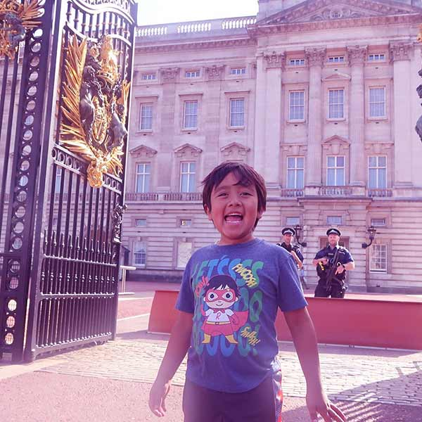 Image of Caption: Ryan Kali went on a trip to London with his family in 2019