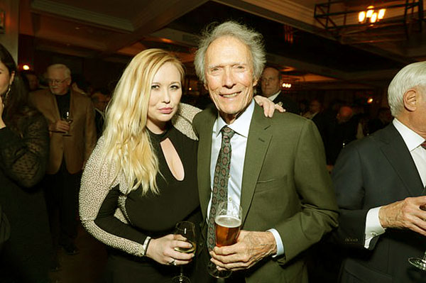 Image of Caption: Kathryn Eastwood with father Clint Eastwood