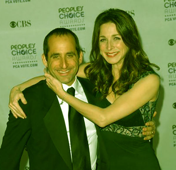 Image of Caption: Randall Sommer with his wife Marin Hinkle