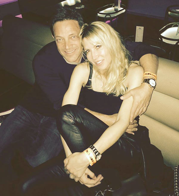 Image of Caption: Anne Koppe and Jordan Belfort were hanging out with his daughter and friends at night club in Madrid