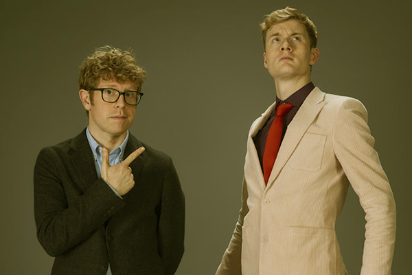 Image of Caption: Josh Widdecombe and James Acsteron on Hypothetical