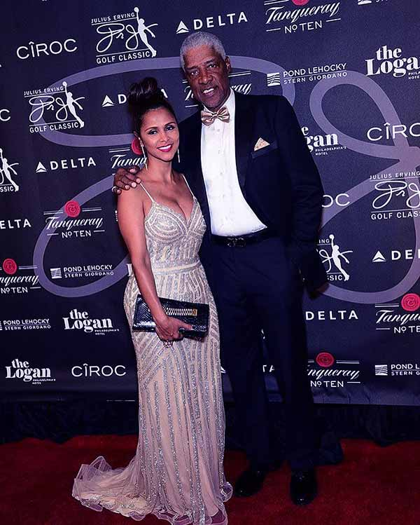 Image of Caption: The beautiful Dorys Madden and her Husband Julius Erving on Erving Classic Red Carpet in 2017