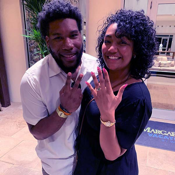 Image of Caption: Kay's daughter, Kadee engaged to married to her boyfriend