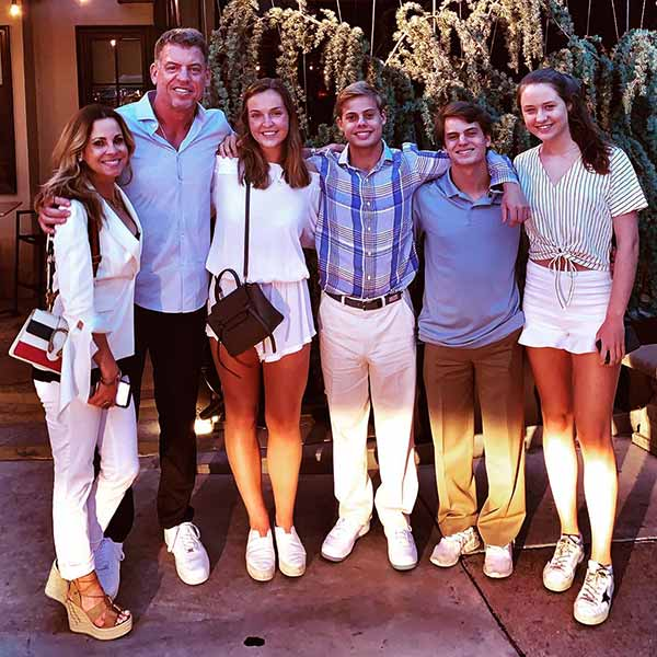 Image of Caption: Catherine Mooty and Troy Aikman's children from their previous relationship