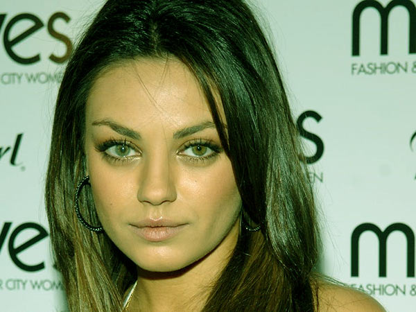 Image of Caption: Mila Kunis has different colored eyes