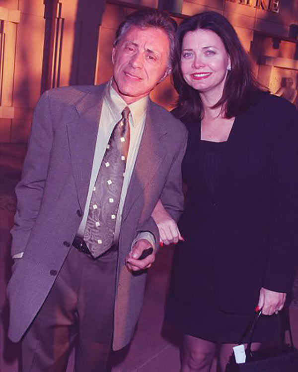Image of Caption: Randy Clohessy with her ex-husband Frankie Valli