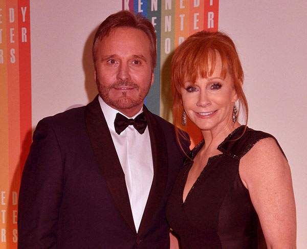 Image of Caption: Narvel Blackstock with his second wife Reba McEntire