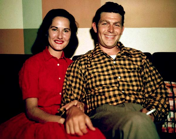 Image of Caption: Andy Griffith with his ex-wife Barbara Edwards