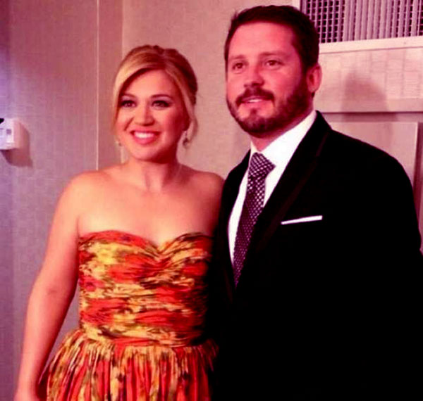 Image of Caption: Elias Gayle son Brandon with his wife Kelly Clarkson