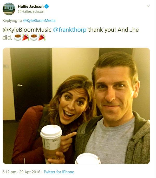 Image of Caption: Hallie Jackson with her boyfriend Frank Throp