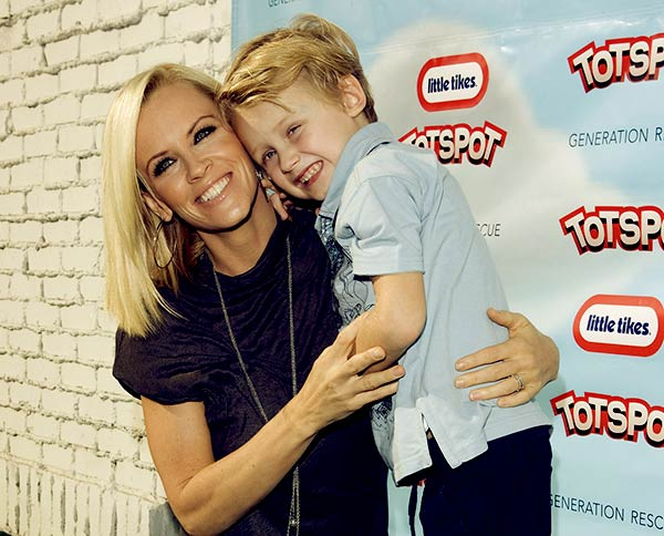 Image of Caption: Evan with his mother Jenny