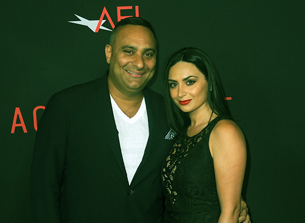 Image of Caption: Ruzanna and her ex-fiance, Russell Peters