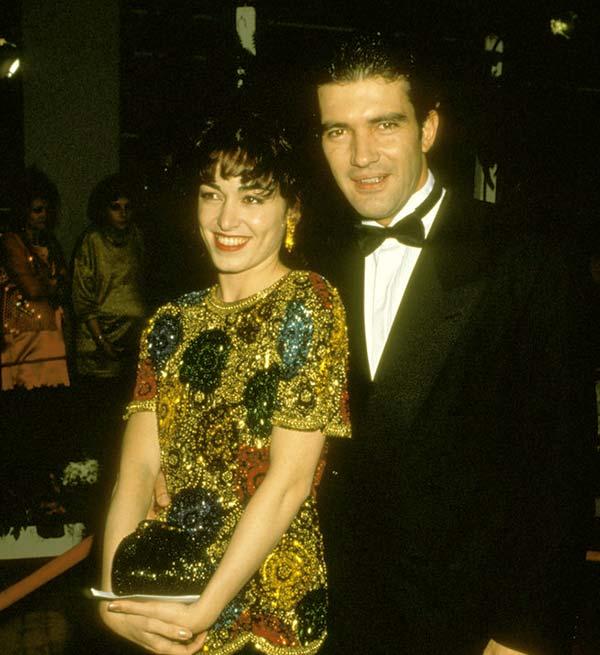 Image of Caption: Ana Leza and former husband, Antonio Banderas in Los Angeles in 1992