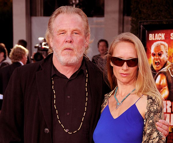 Image of Caption: Clytie Lane with her husband Nick Nolte