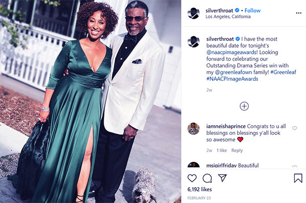 Image of Caption: Dionne stepped out with her husband, Keith David, on NAACP Images Awards