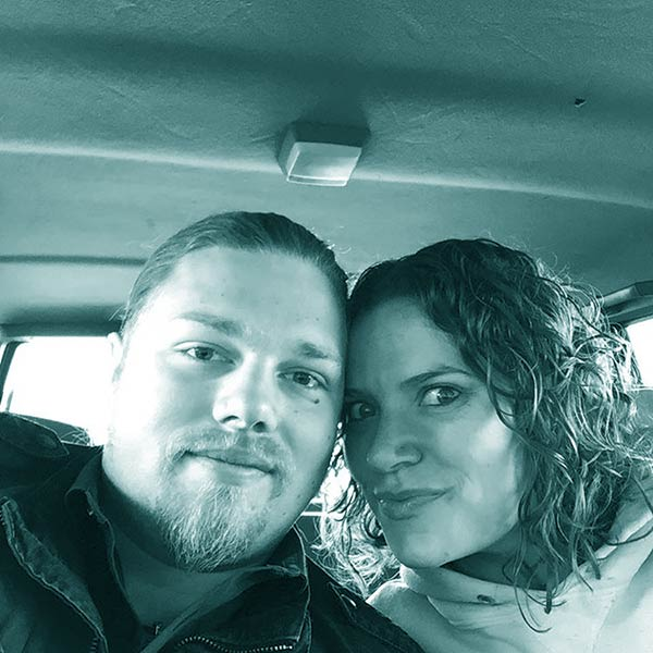 Image of Caption: Noah Brown married to Rahain Alicia in August 2018 in Idaho