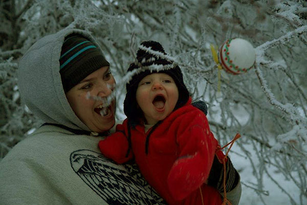 Image of Caption: Elijah Connor Brown celebrated his first Christmas with the Brown Family