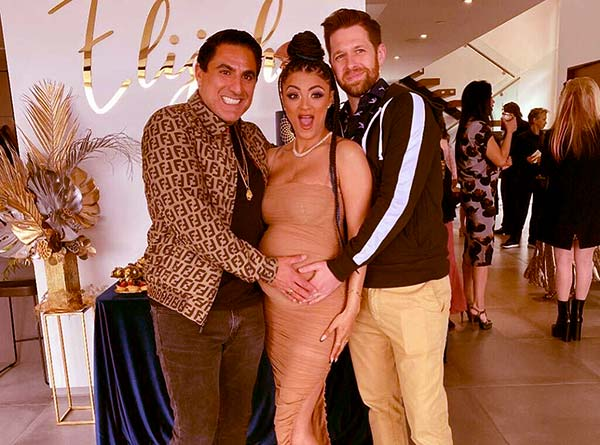 Image of Caption: Golnesa with her co-stars from Shahs of Sunset