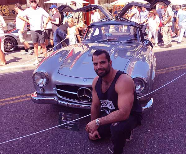 Image of Caption: Shervin has a Mercedes Benz 300SL car