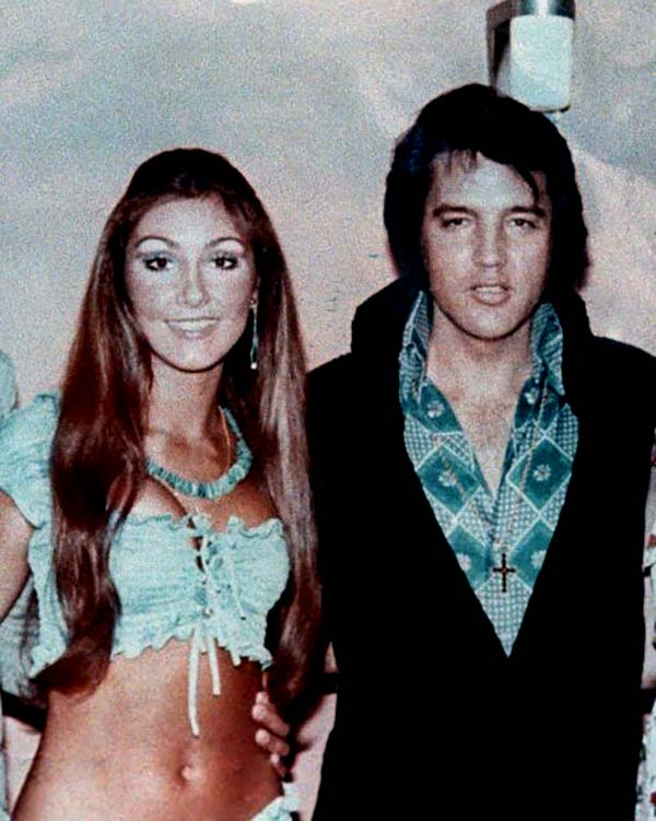 Image of Caption: Linda Thompson and the late musician Elvis Persly dated for four years