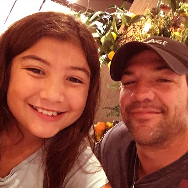 Image of Caption: Leland Chapman took a selfie with his daughter, Leiah Chapman