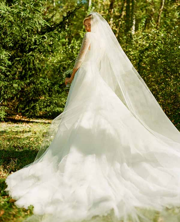Image of Caption: Karlie's wedding gown designed by Maria Grazia Chiuri