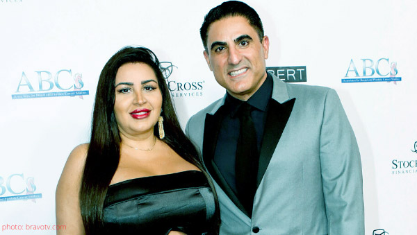 Image of Caption: Shahs of Sunsets Mercedes 'MJ' Davis and Reza