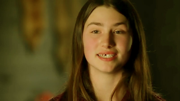 Image of Caption: Snowbird Brown is famous for her not-so-cute-teeth on Alaskan Bush People
