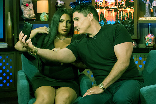 Image of Caption: Mercedes Javid and Reza Farahan