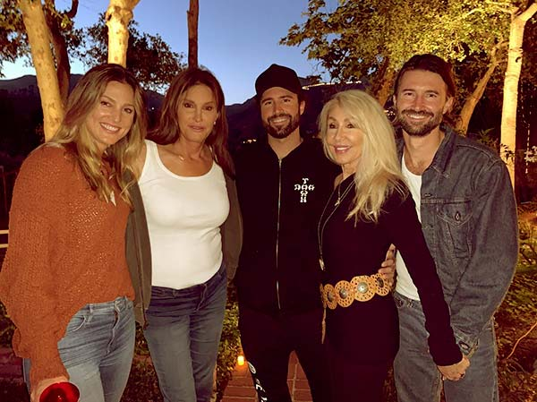 Image of Caption: Brandon and Brody Jenner, sons of Caitlyn Jenner and Linda Thompson