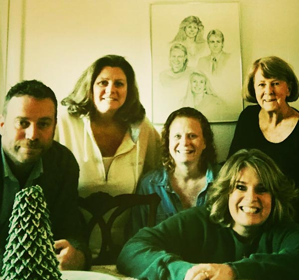 Image of Jeffrey Johnson with parents and sisters