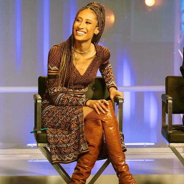 Image of Caption: Judge, Elaine Welteroth from the TV reality show, Project Runway