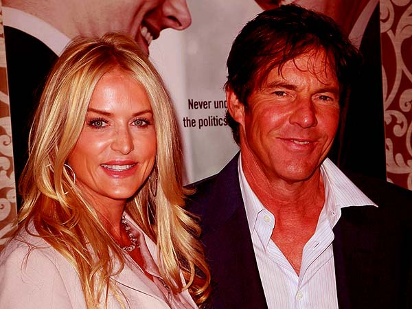Image of Kimberly Quaid and her husband, Dennis Quaid