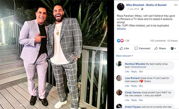 Image of Caption: Mike with his friend and co-star, Reza Farahan