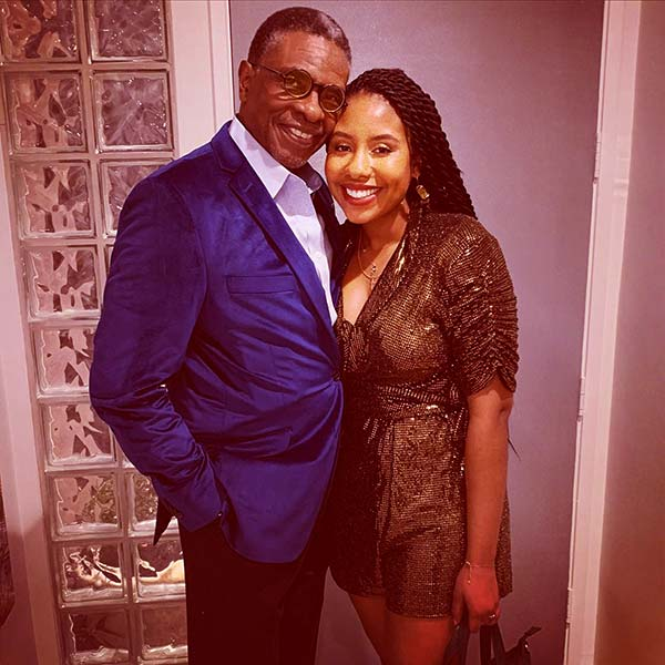 Image of Caption: Keith David with his daughter Maelee Williams