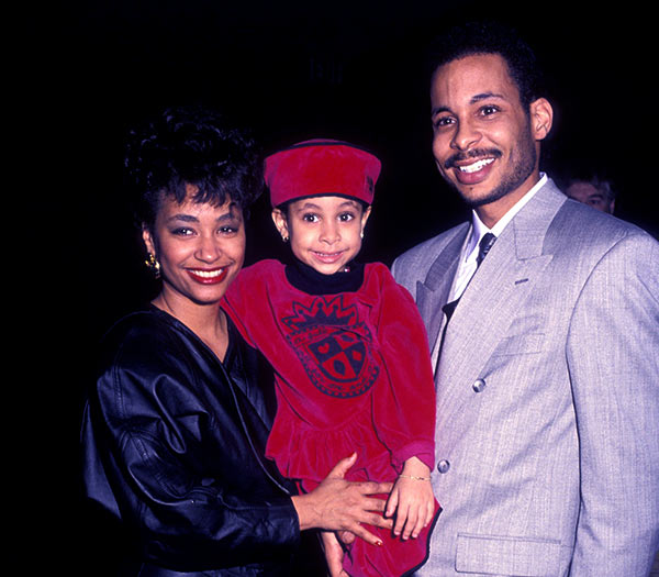 Image of Caption: Raven Symone with her mother Lydia and father Christopher Pearman