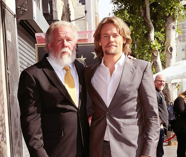 Image of Caption: Nick Nolte with his son Brawley King Nolte from wife Rebecca